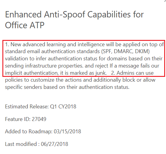 Microsoft 365 ATP: Anti-Phishing Policy/Sender Domain