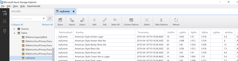Beer Styles Added to Azure Table Service.PNG