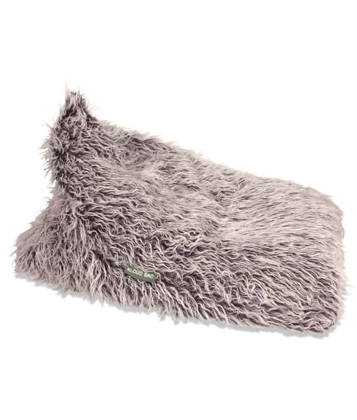 NEW Fur Triangle Bean Bag  Brown Faux Fur  eBay