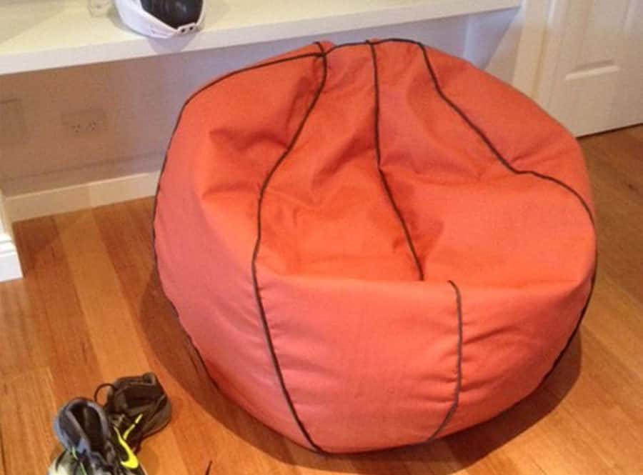 Basketball Bean Bag  Stain Resistant Washable Cover