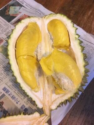 半分に割ったドリアン, durian cut in half