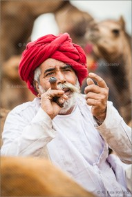 man with the red turban