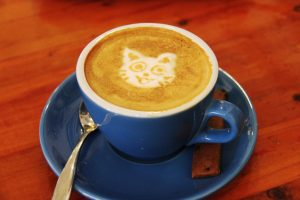 cappuccino with cat face decoration