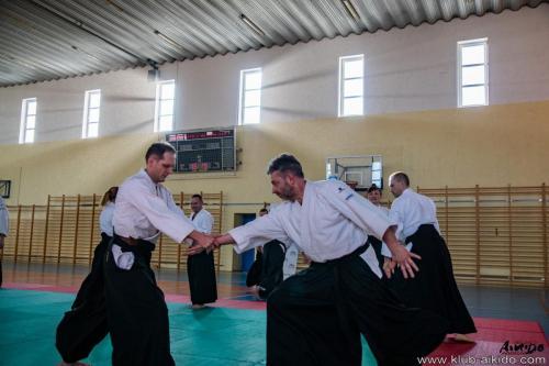 Seminarium regionalne w Ożarowicach pod kierunkiem sensei Romana Hoffmanna 6 dan shihan aikikai 23.03.2019