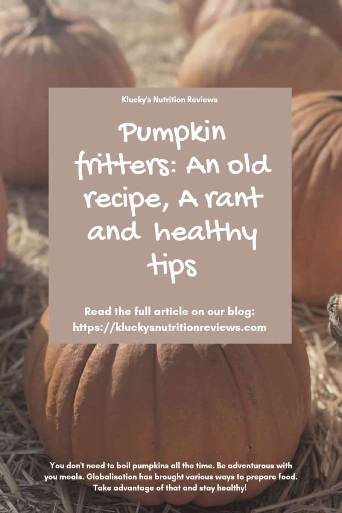 Blog graphic for the pumpkin fritters recipe article.