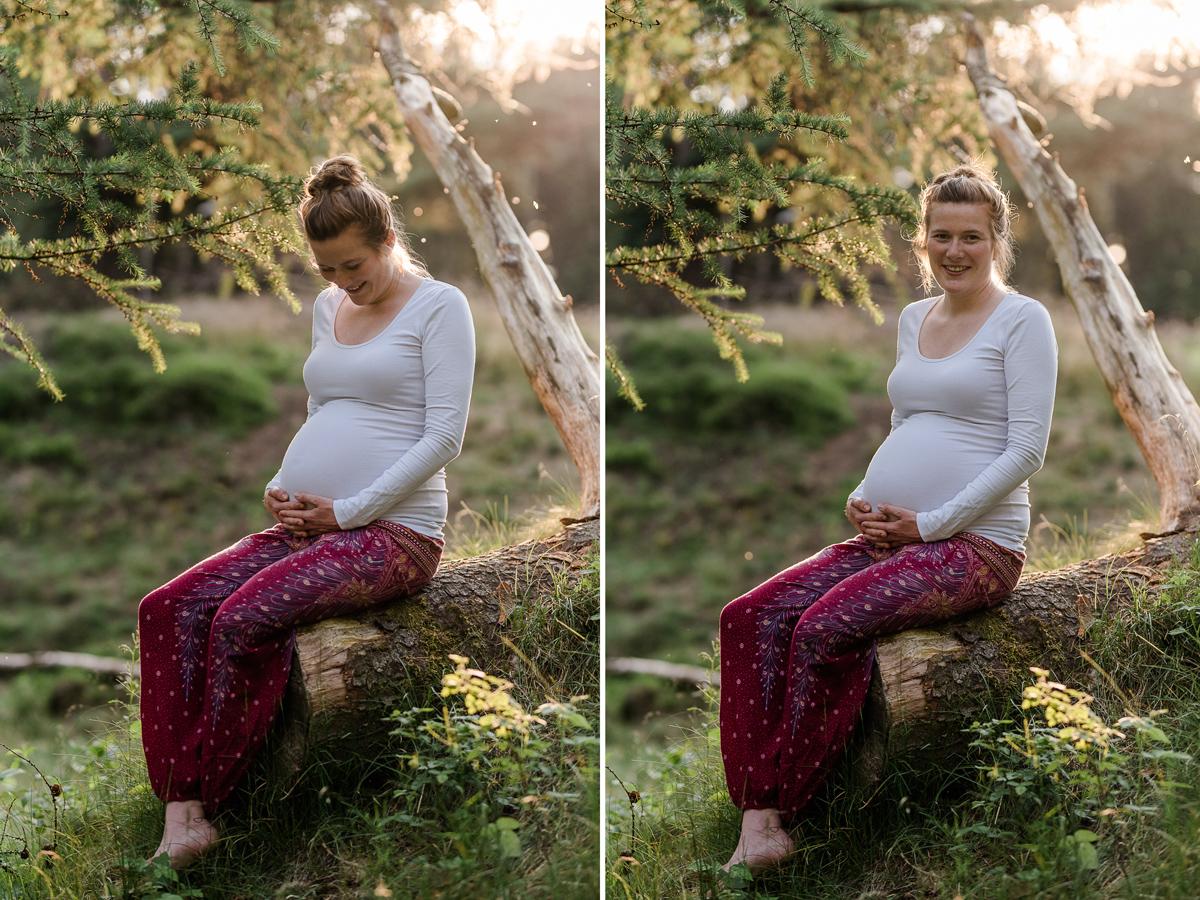 Babybauchfotos Natur Natürliche Schwangerschaftsfotos Conni Klueter Fotografie Leck