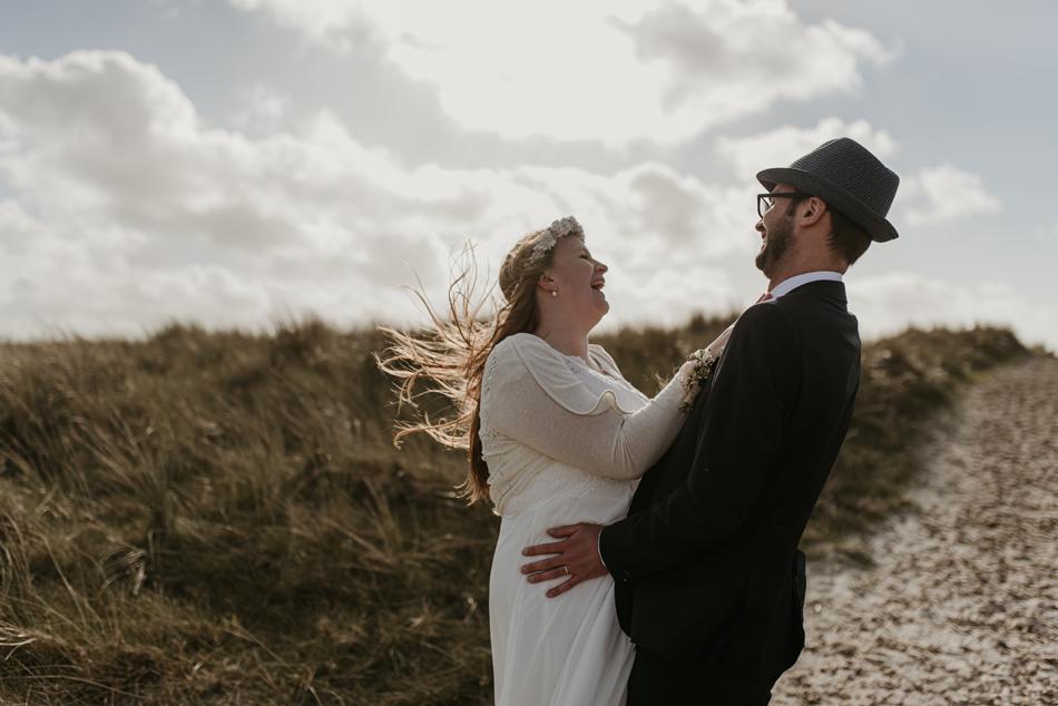 Heiraten in Dänemark Trauung auf dem Leuchtturm in Blavand Hochzeitsfotografie Conni Klueter