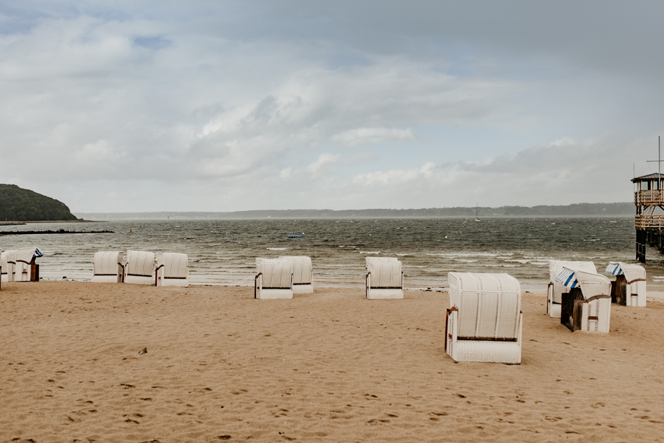 Blick vom Strandhotel Glücksburg auf die Flensbrg Förde/Ostsee