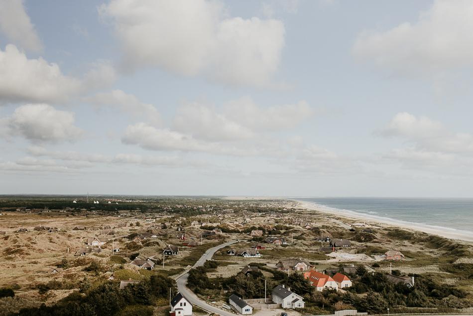 Blavand von oben Aussicht vom Leuchtturm