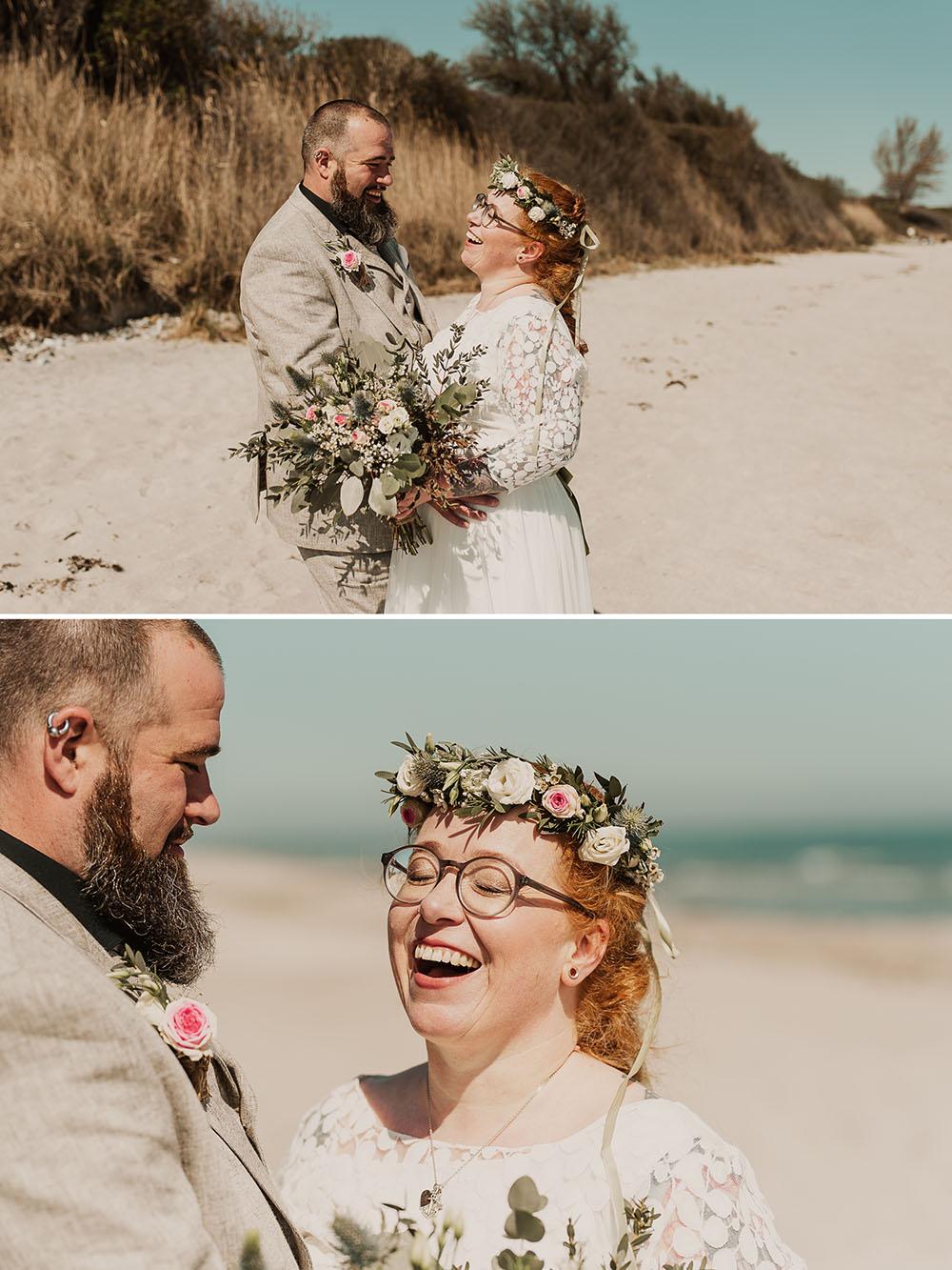 Brautpaarfotos in Pottloch Kronsgard an der Ostsee bei Kappeln
