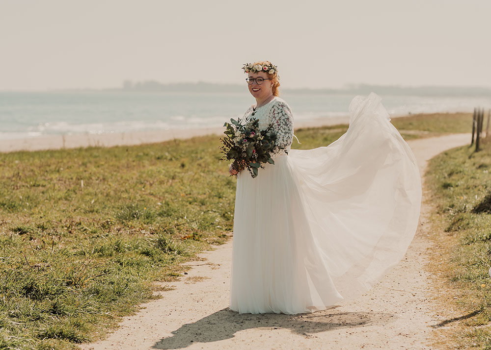 Braut am Meer