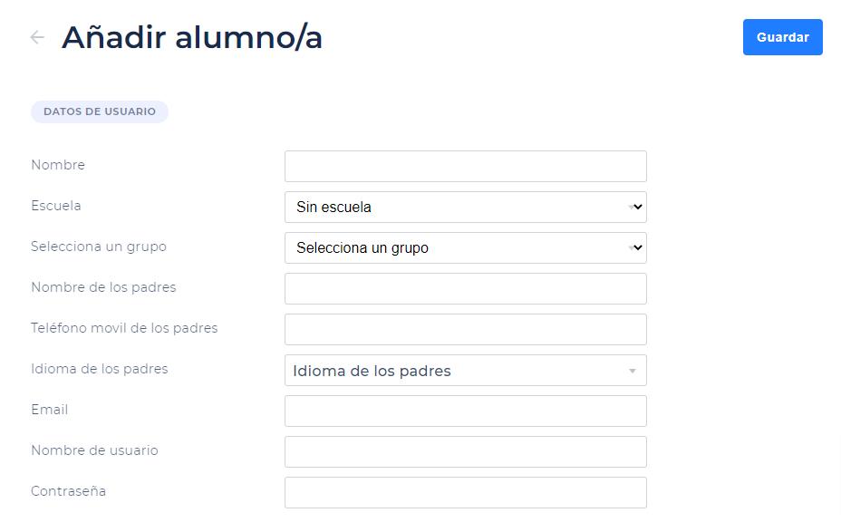 añadir alumno