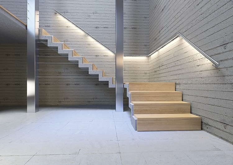 Led Lighting For Stairs And Handrails Klusdesign Com   Lighted Handrails For Stairs   Wood Hand Rail Design   Antique   Brushed Nickel   Modern   Acrylic