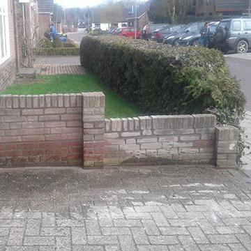Beschadigde muur