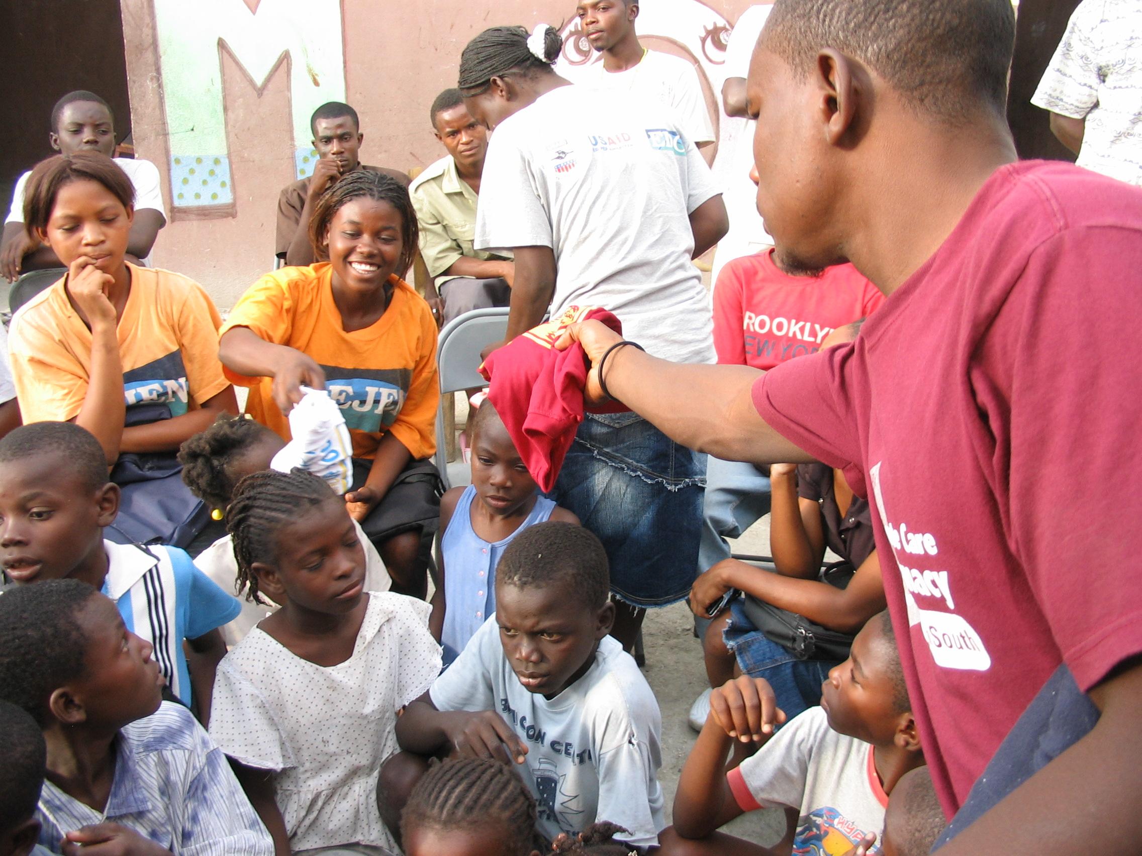 Cite Soleil. T-shirt donations 4