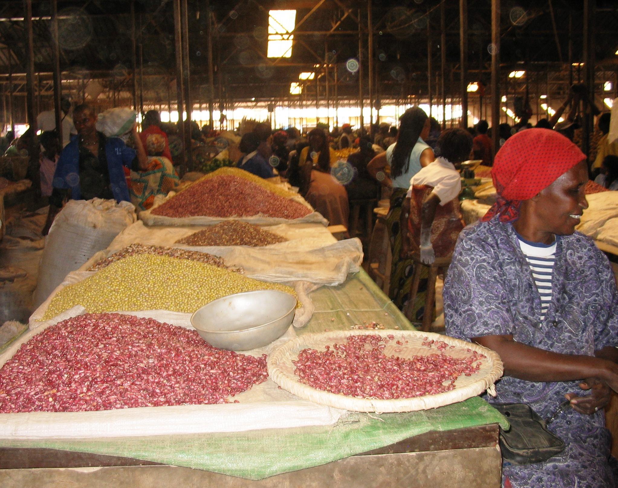 Kigali market, grain section
