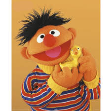 Ernie with Rubber Ducky from Sesame Street