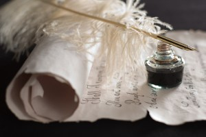 Feather Pen Writing