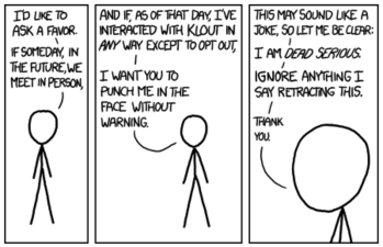 XKCD Comic on Klout