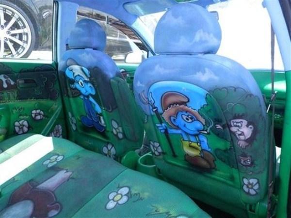Smurfs Themed Car 14 Photos Klyker Com