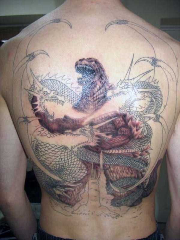 30 Seriously Good Godzilla Tattoos 30 photos  KLYKERCOM