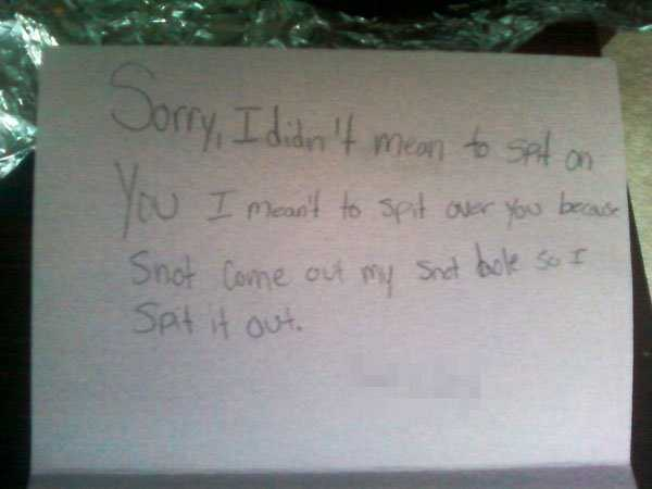 19 Hilarious Apology Notes To Make You Laugh Klyker Com