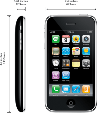 Dimensioni dell'iPhone 3G
