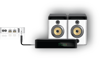 Hook up airport express to speakers