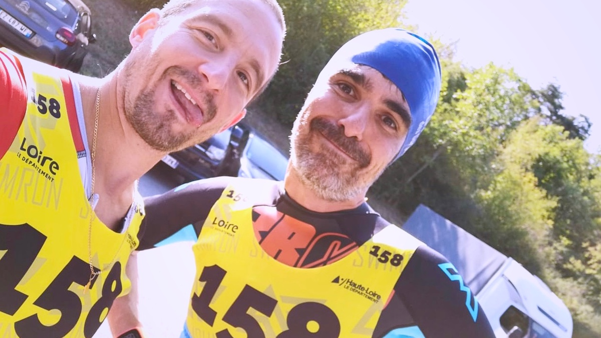 64 swimrun gorgesdelaloire - KM 42 Podcast running par Bertrand Soulier
