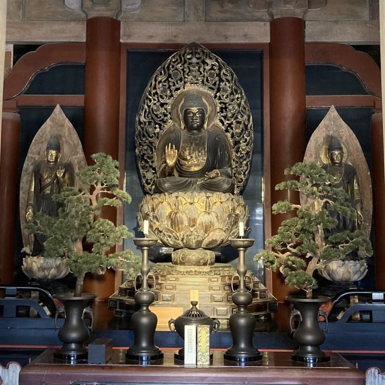 書寫山圓教寺 大講堂 釈迦三尊像