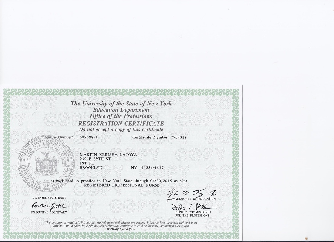 RN Registration  License  Professional EPortfolio