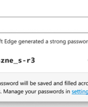 Fortify Your Passwords with the new Microsoft Edge Password Generator