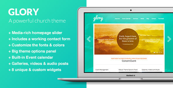 Tema WordPress Glory