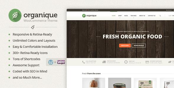 Tema WordPress Organique