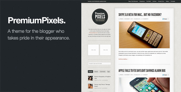 Tema WordPress PremiumPixels