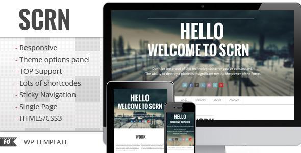Tema WordPress SCRN