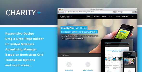 Tema WordPress Charity+