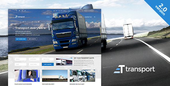 Tema WordPress Transport WP Transportation