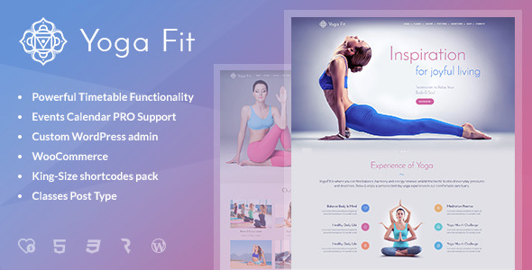 Tema WordPress Yoga Fit