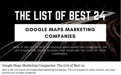 Google Maps Marketing Companies: The List of Best 24