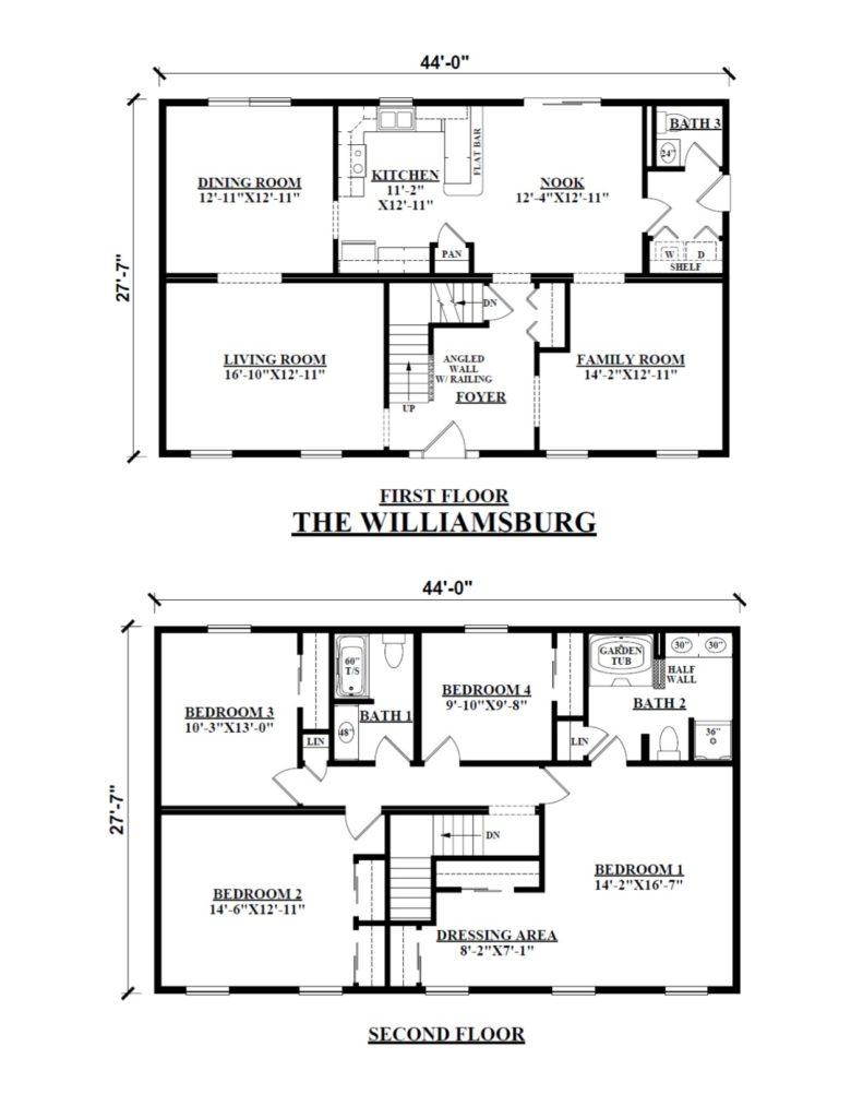 Two Story Modular Floor Plans