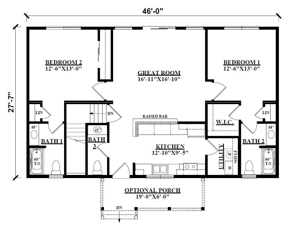Log cabin floor plans kintner modular homes nepa builder - Modular homes vs site built ...