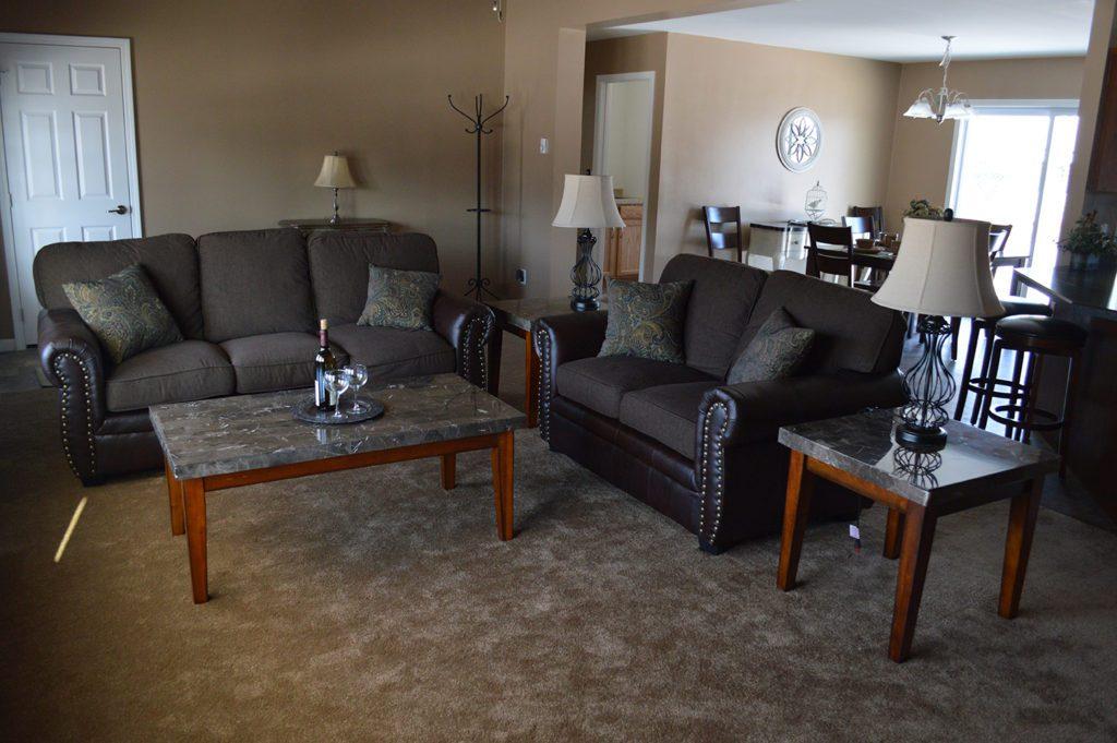 Ranch Modular Home, Living Room