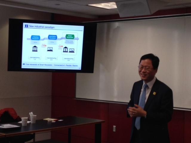 KMI Seminar Series at GWU on Nov. 16, 2015 – Mr. Chang Kyu Kim