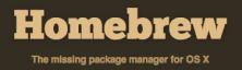 Homebrew – Mac OS X 用スマートなパッケージ管理システム