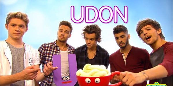Watch One Direction Sing About Underpants and Udon on Sesame Street