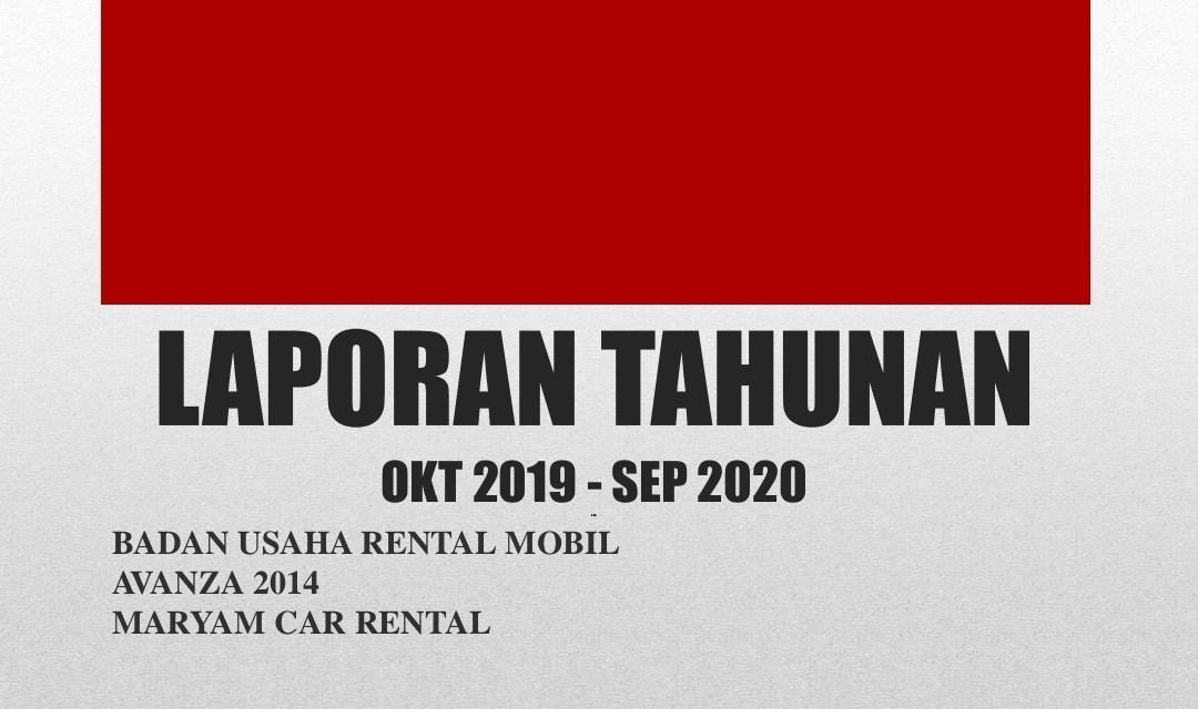 Laporan Keuangan Badan Usaha Rental Mobil 2020