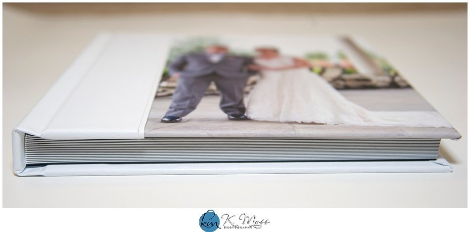 White Leather Photo Combo Wedding Album | Berks County Wedding Photographer