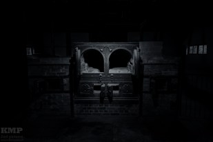Verbrennungsofen im ersten, kleineren Krematorium