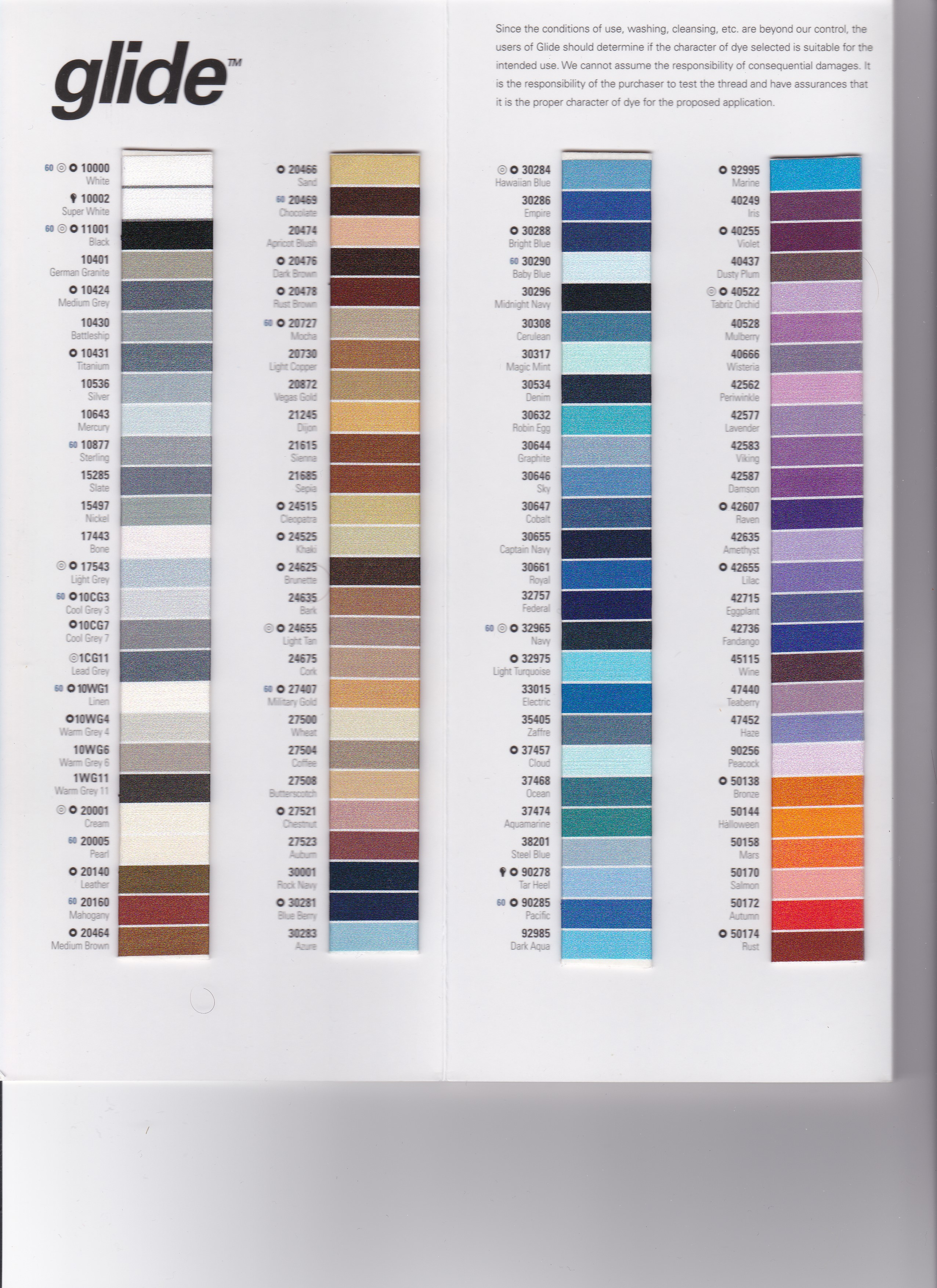 Coats And Clark Machine Embroidery Thread Color Chart